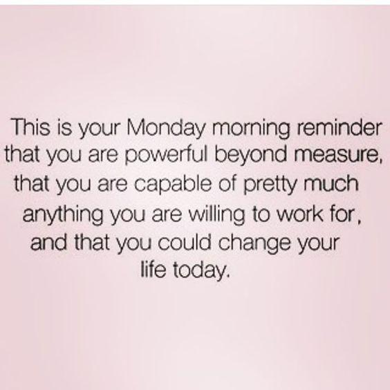 Monday reminder